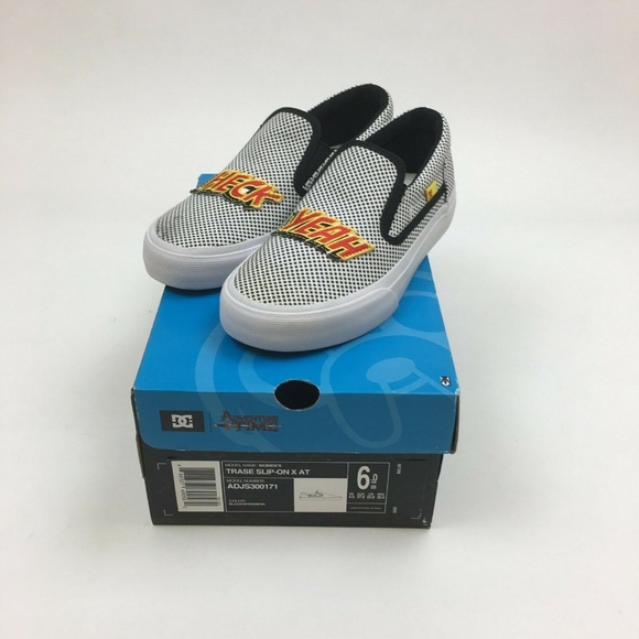ADVENTURE TIME X DC SHOES TRASE SLIP ON WOMEN'S 6 NWT